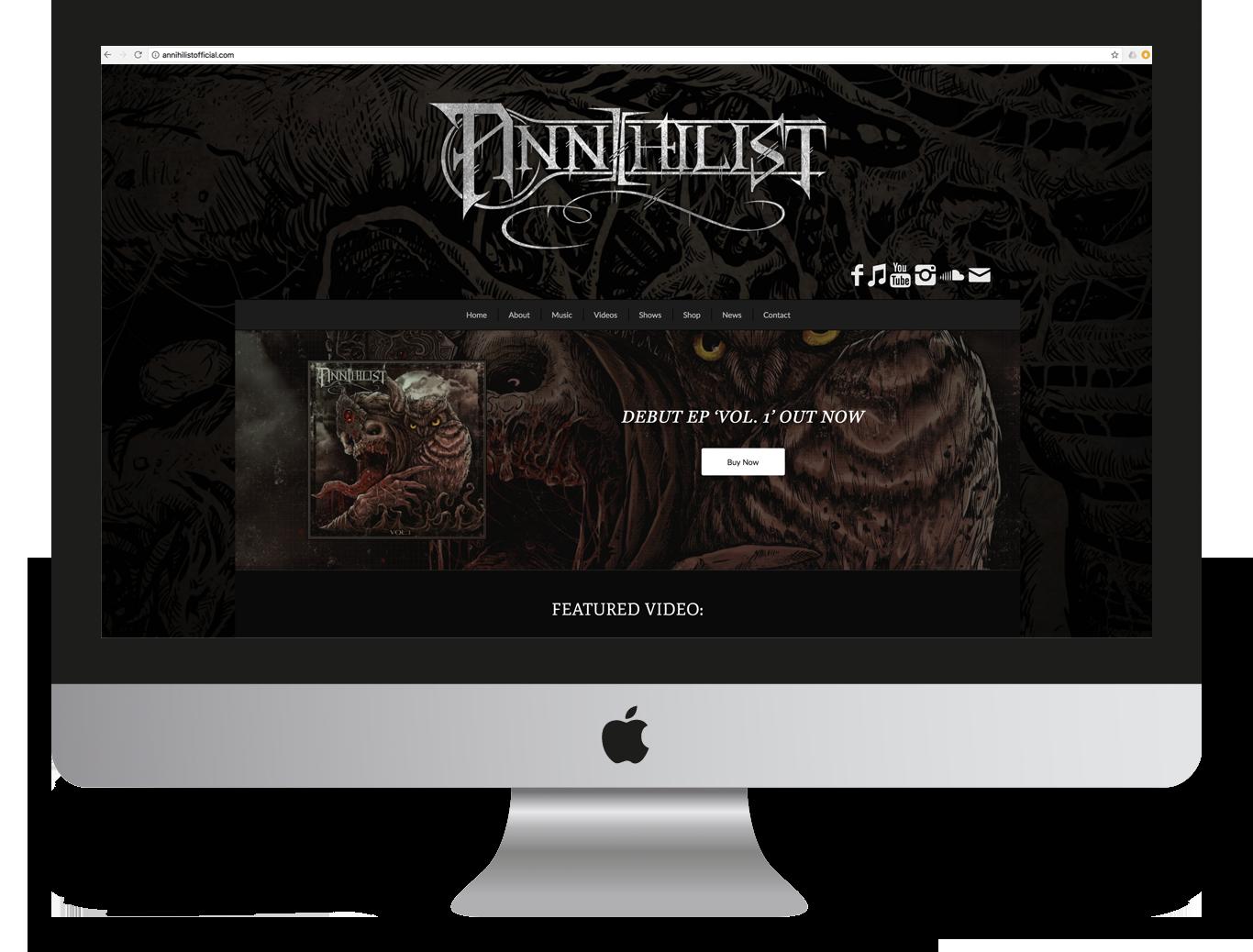 Annihilist Website Design and Development - Miki Media   Melbourne Web Design Services
