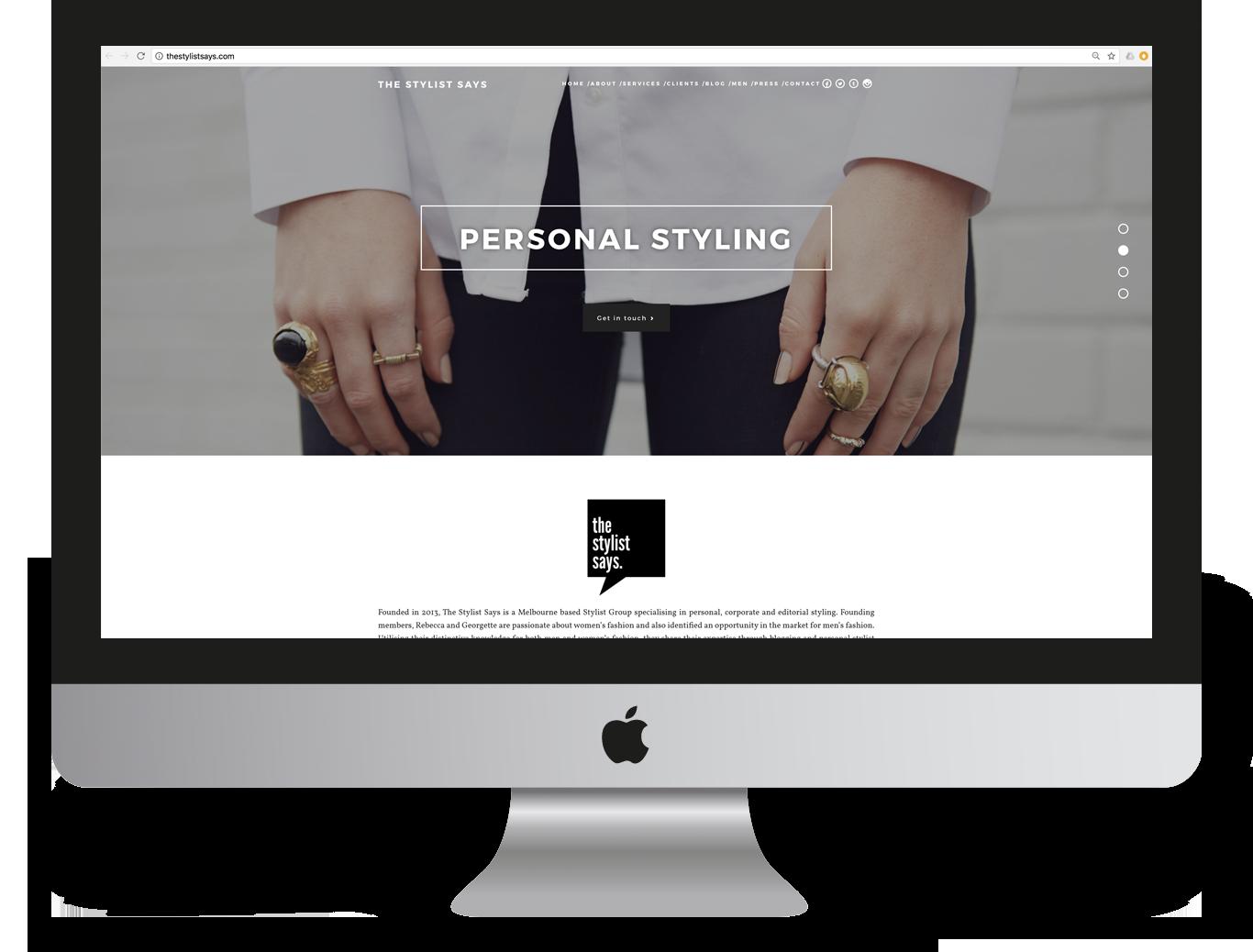The Stylist Says Website Design and Development - Ignite Group Website Development - Miki Media   Melbourne Web Design Services
